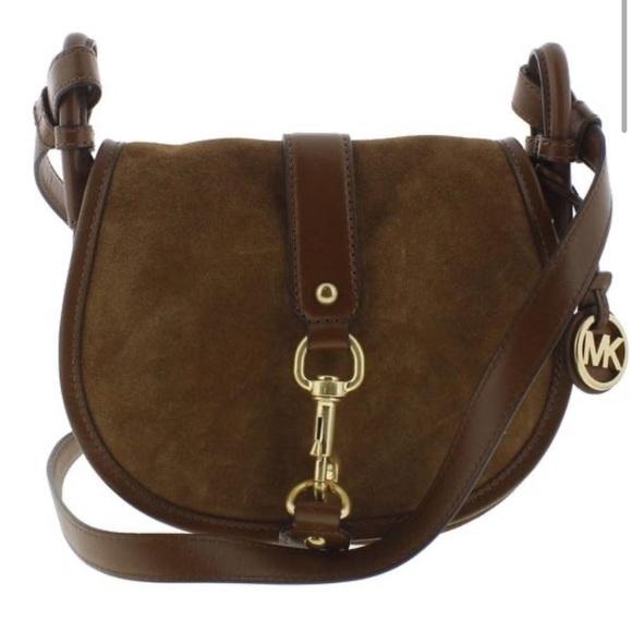 MICHAEL Michael Kors Handbags - Michael Kors Womens Jamie Saddle Suede Handbag